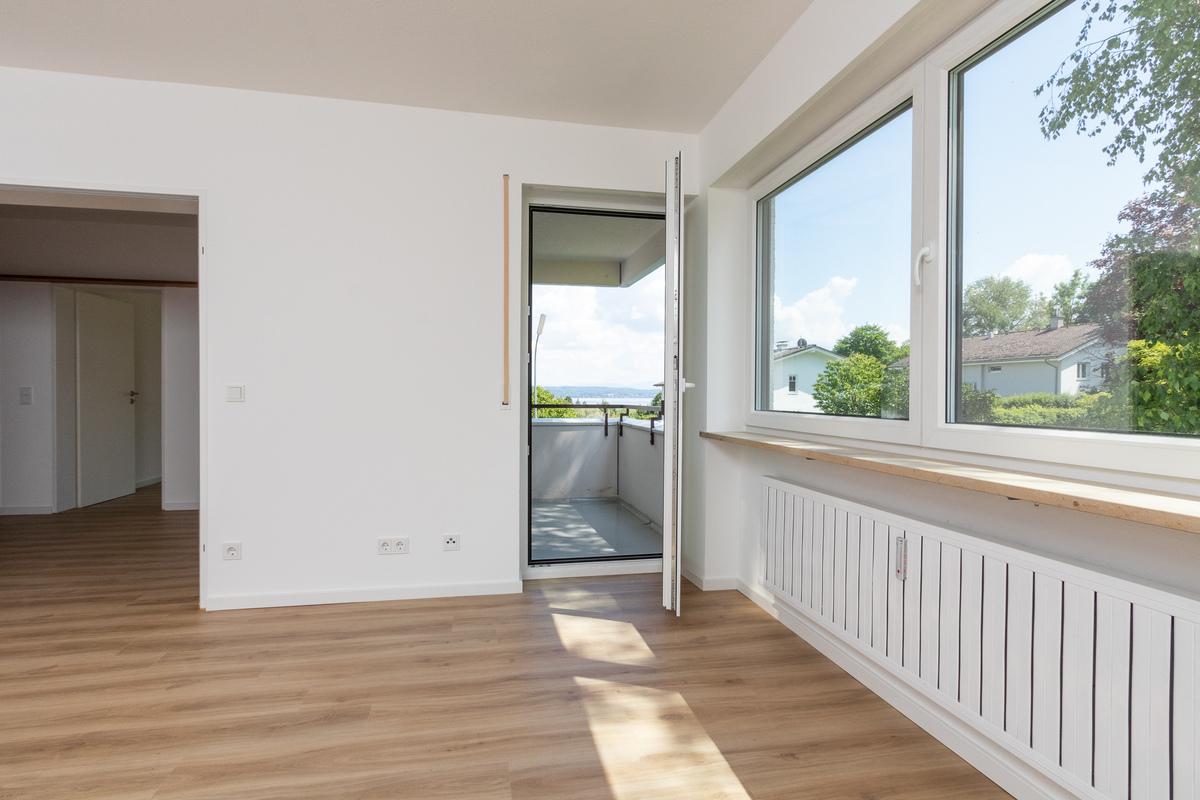 Wohnzimmer über Balkon